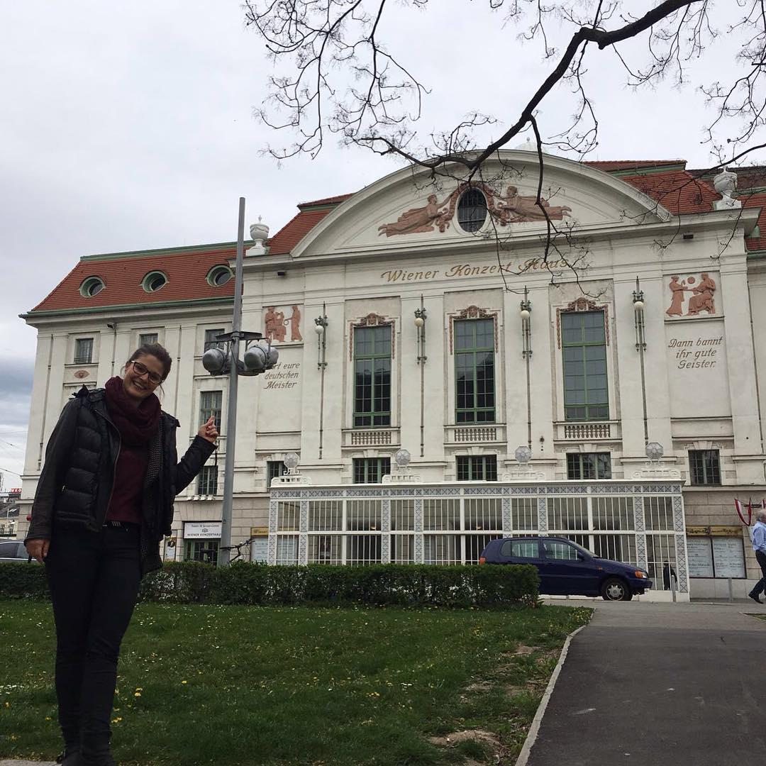 Probe im Wiener Konzerthaus- Konzert morgen. ich freu mich