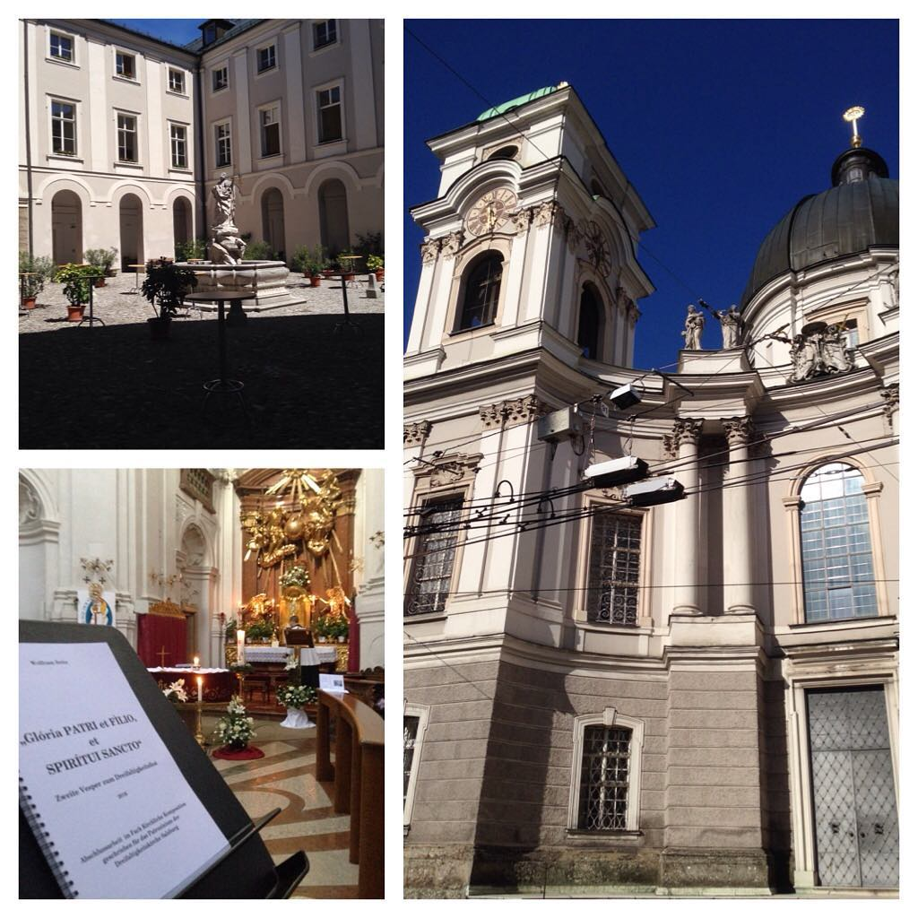 Good to be back in Salzburg. Had a lovely day with lots of sun and music